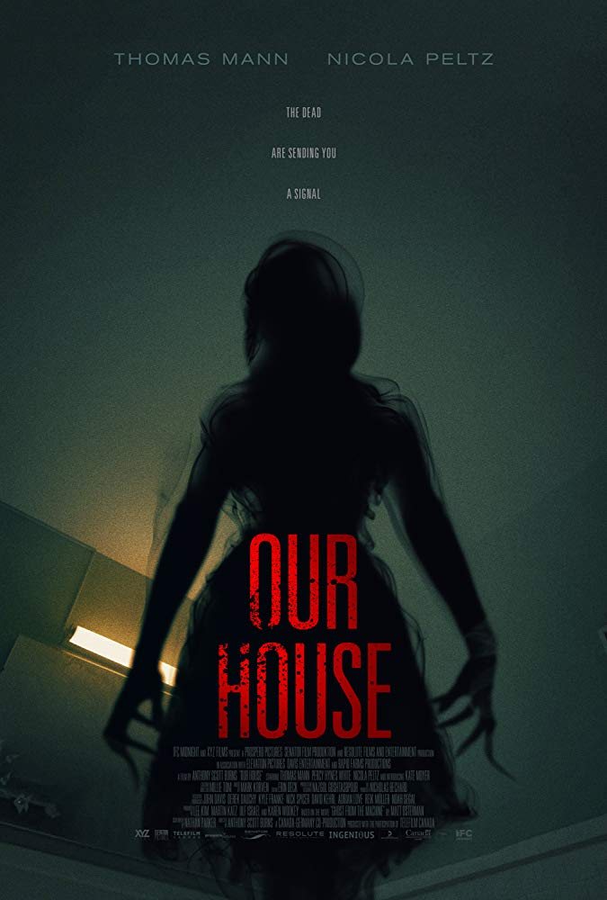 The film poster showing a female silhouette with long claws.