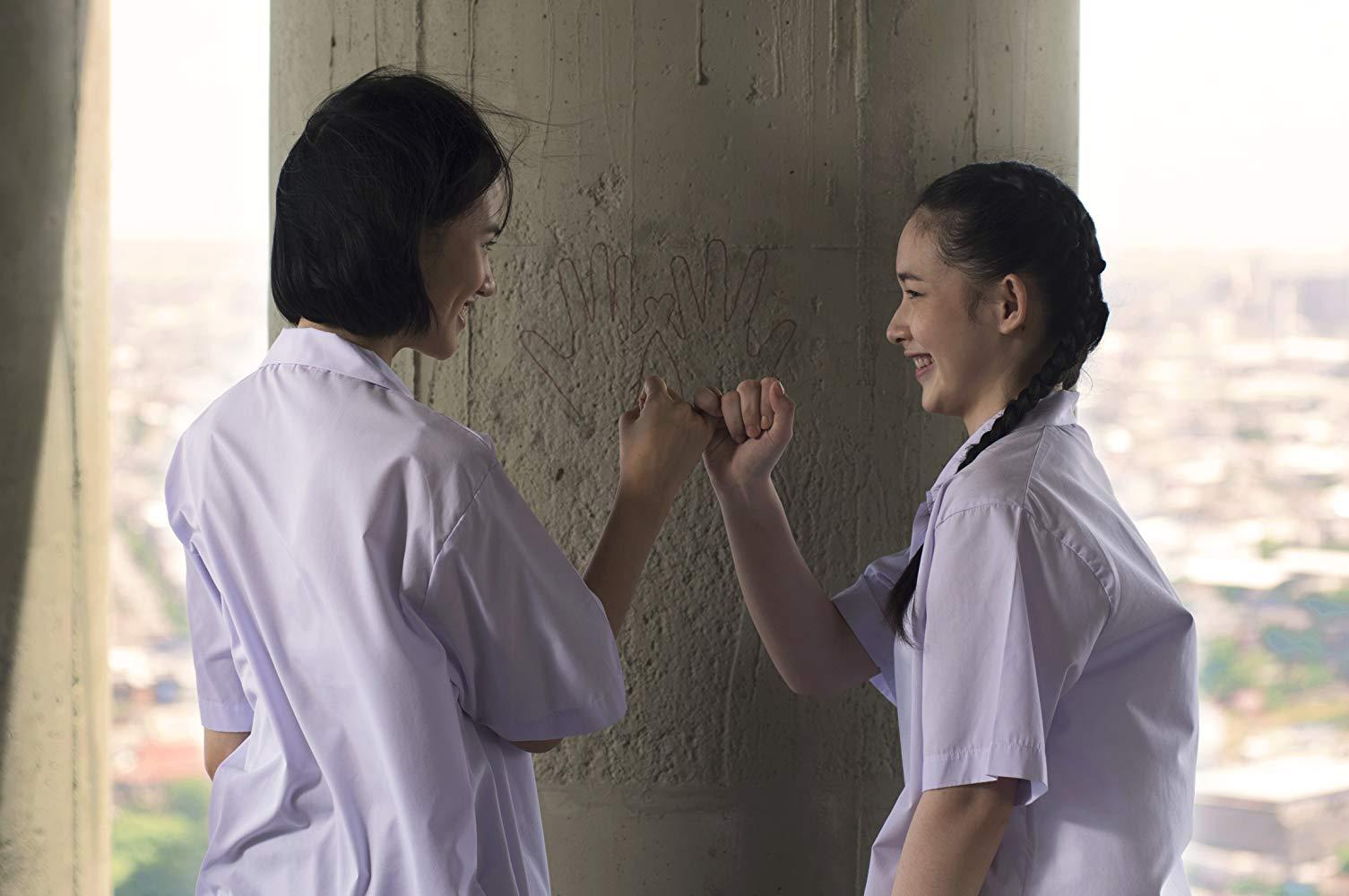 Thunyaphat Pattarateerachaicharoen and Panisara Rikulsurakan in the film.
