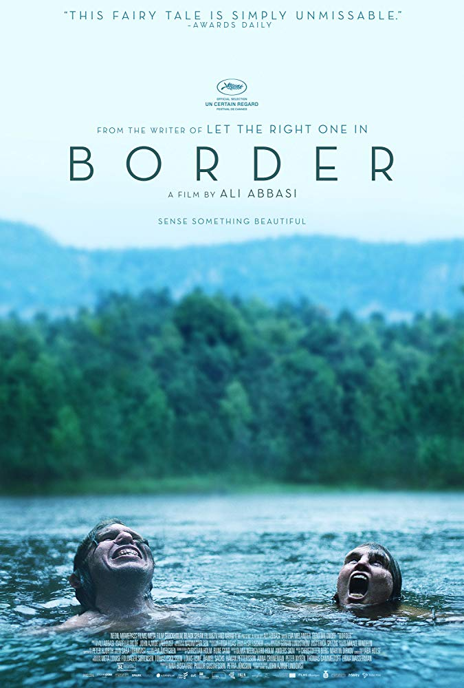 The film poster showing two people swimming in a lake.