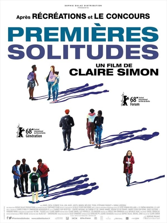 The film poster showing drawings of groups of teenagers and their shadows.