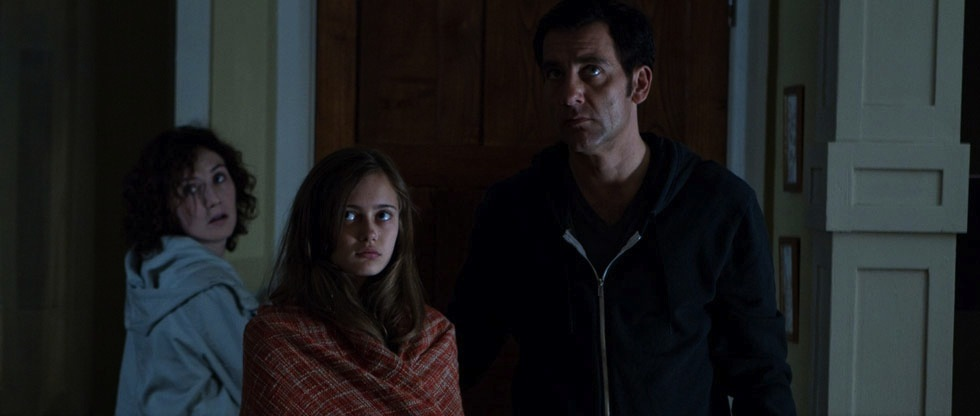 Carice van Houten, Ella Purnell and Clive Owen in the film.