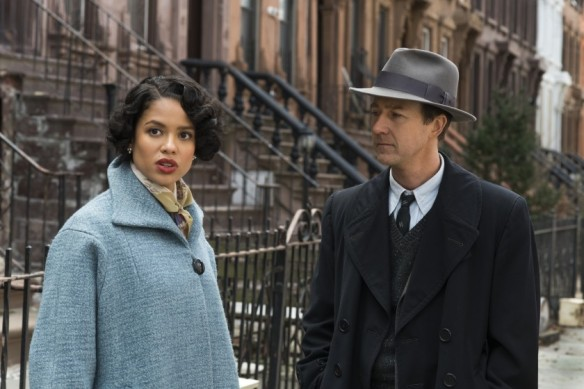 Gugu Mbatha-Raw and Edward Norton in the film.