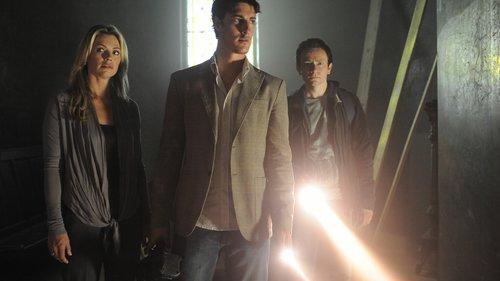 Caroline Néron, Eric Balfour and Justin Salinger in the film.