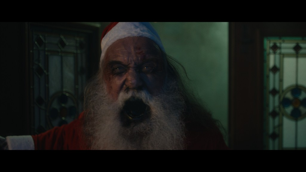 A demonic looking Santa.