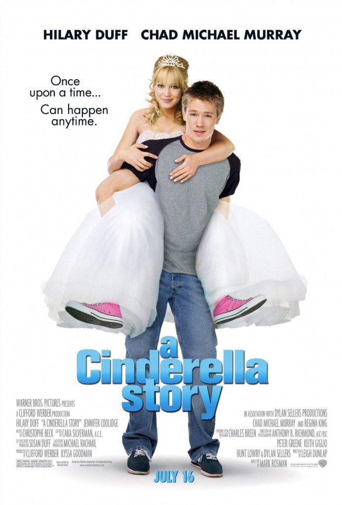The film poster showing Sam (Hilary Duff) riding piggyback on Austin (Chad Michael Murray).