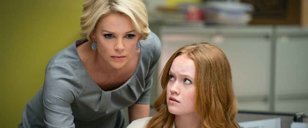 Megyn Kelly (Charlize Theron) and her staffer Lily (Liv Hewson).