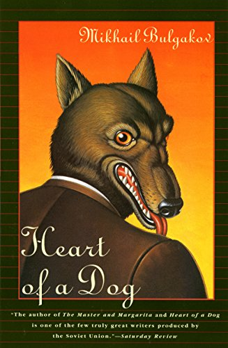 The book cover showing a dog in a suit.