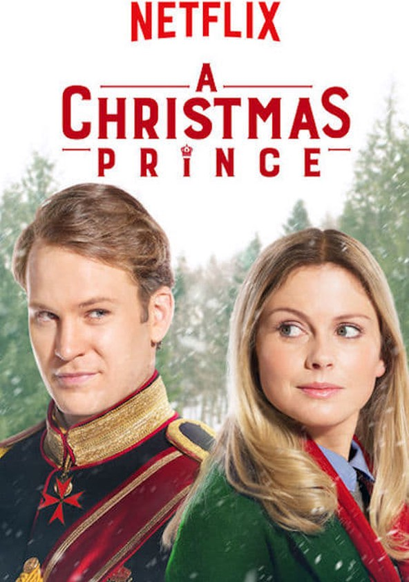 The film poster showing Prince Richard (Ben Lamb) and Amber (Rose McIver).