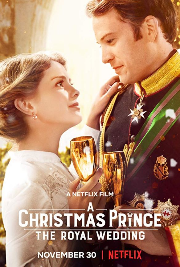 The film poster showing Amber (Rose McIver) and Richard (Ben Lamb) dancing.