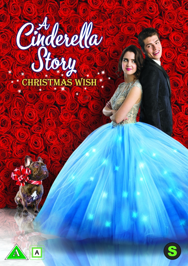 The film poster showing a young woman (Laura Marano) and a young man (Gregg Sulkin) standing back to back in fancy dress in front of a wall of red roses.