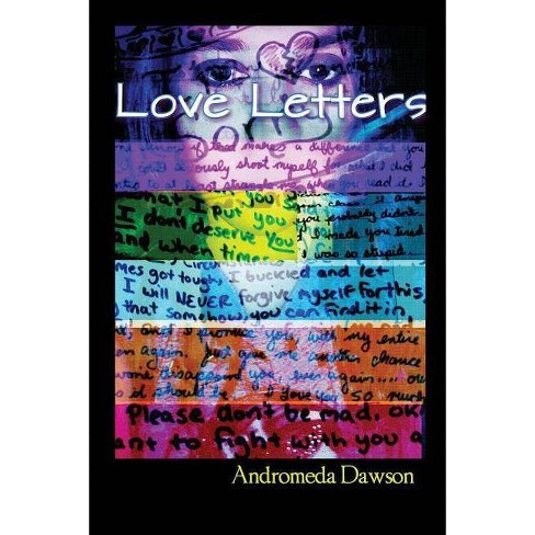The book cover showing a face with colorful stripes and handwriting super-imposed.