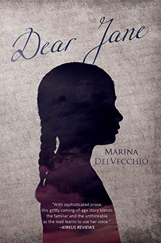 The book cover showing the shadow profile of a girl in front of a handwritten page.