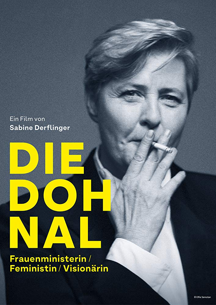 The film poster showing Johanna Dohnal smoking.