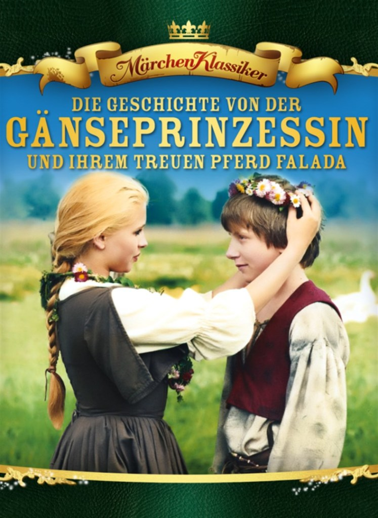 The film poster showing a girl (Dana Moráková) putting a flower crown on a boy (Karsten Janzon).