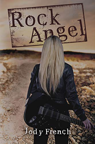 The book cover showing a girl with long blond hair, a leather jacket and a guitar.