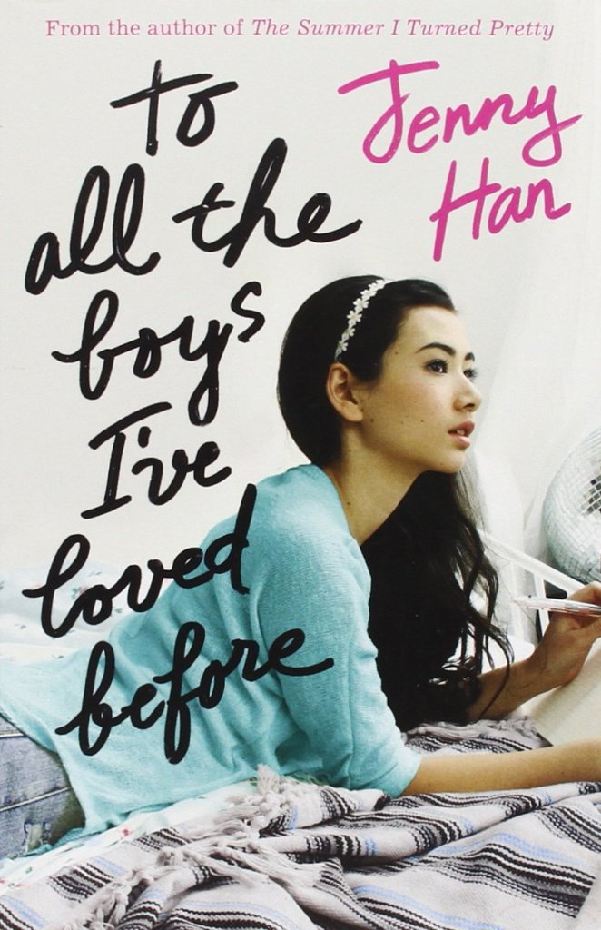 The book cover showing a girl writing on her bed.