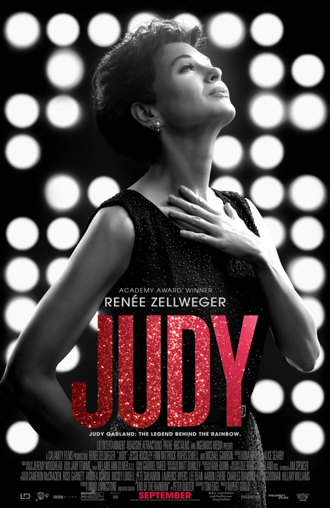 The film poster showing Judy Garland (Renée Zellweger)