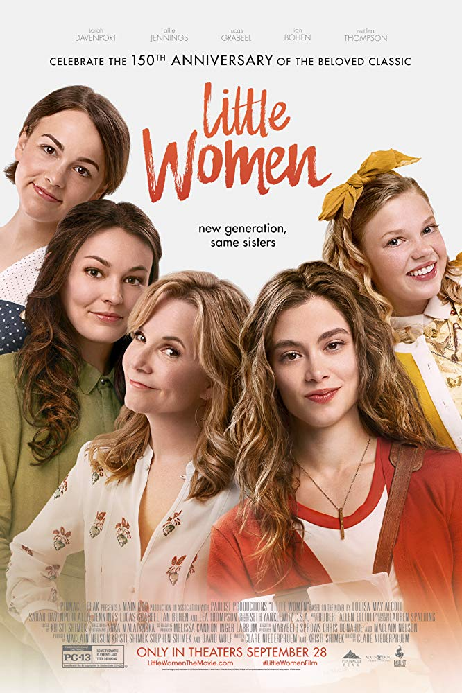 The film poster showing the four Marsh girls (Sarah Davenport, Allie Jennings, Melanie Stone, Elise Jones) and their mother (Lea Thompson).