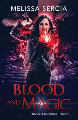 The book cover showing a dark-haired woman with a glowing red orb in one hand and a sword in the other.