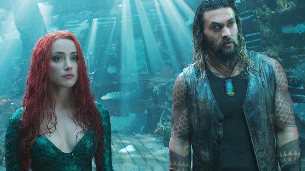 Arthur/Aquaman (Jason Momoa) and Mera (Amber Heard).