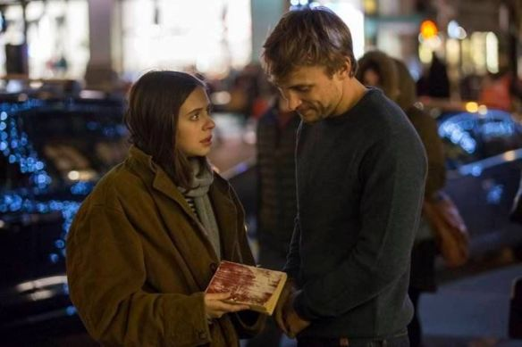 Carrie (Bel Powley) and Cy (William Moseley) on a walk.