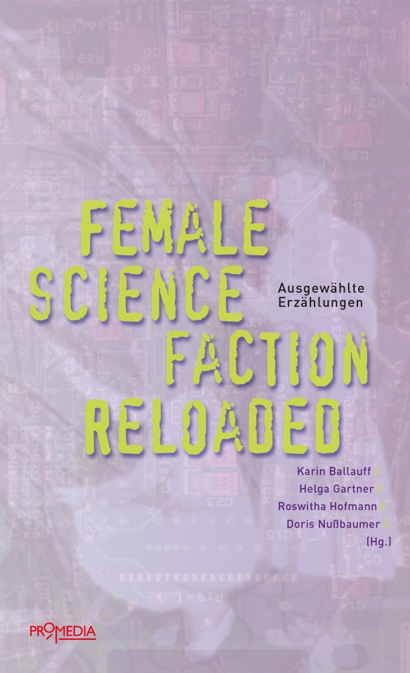 The book cover in purple with two silhouettes of women.