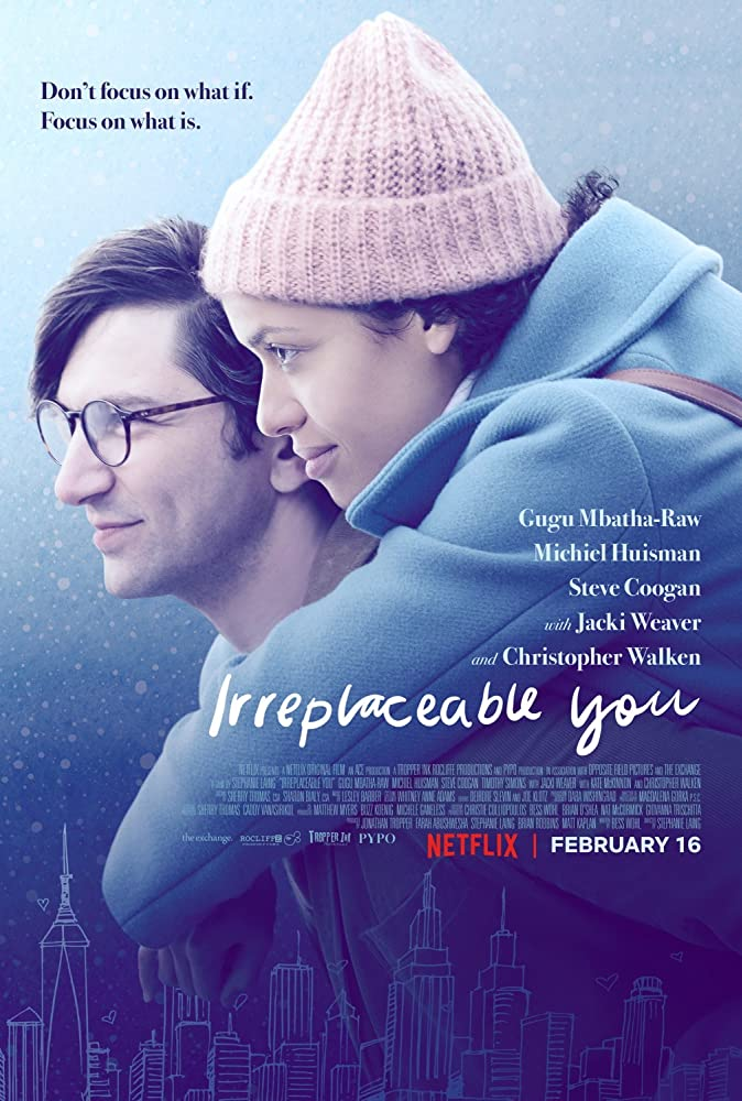The film poster showing Sam (Michiel Huisman) piggybacking Abbie (Gugu Mbatha-Raw)