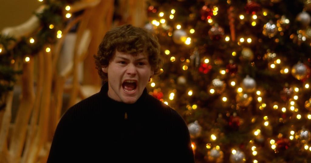 Kyle (Drew Lynch) shouting.