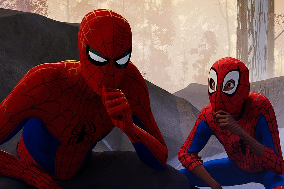 Peter Parker (Jake Johnson) and Miles Morales (Shameik Moore) thinking about their next steps.