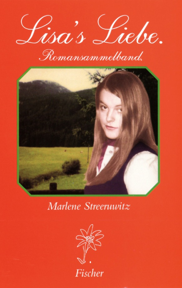 The book cover that shows the photo of a young girl in front of a mountain, emulating a certain type of nostalgic, romantic, nationalistic genre fiction.
