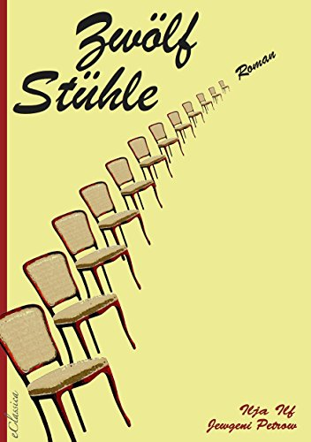 The book cover showing 12 chairs in a row.