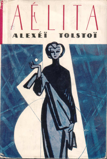 The book cover showing the drawing of a woman in front of a blue background.