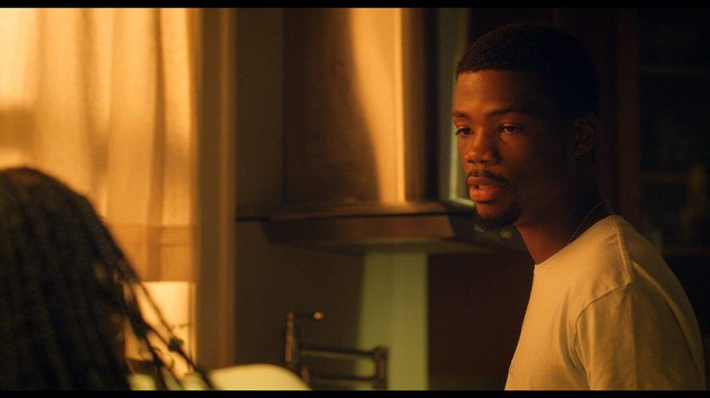 Calvin (Astro) talking to CJ (Eden Duncan-Smith.