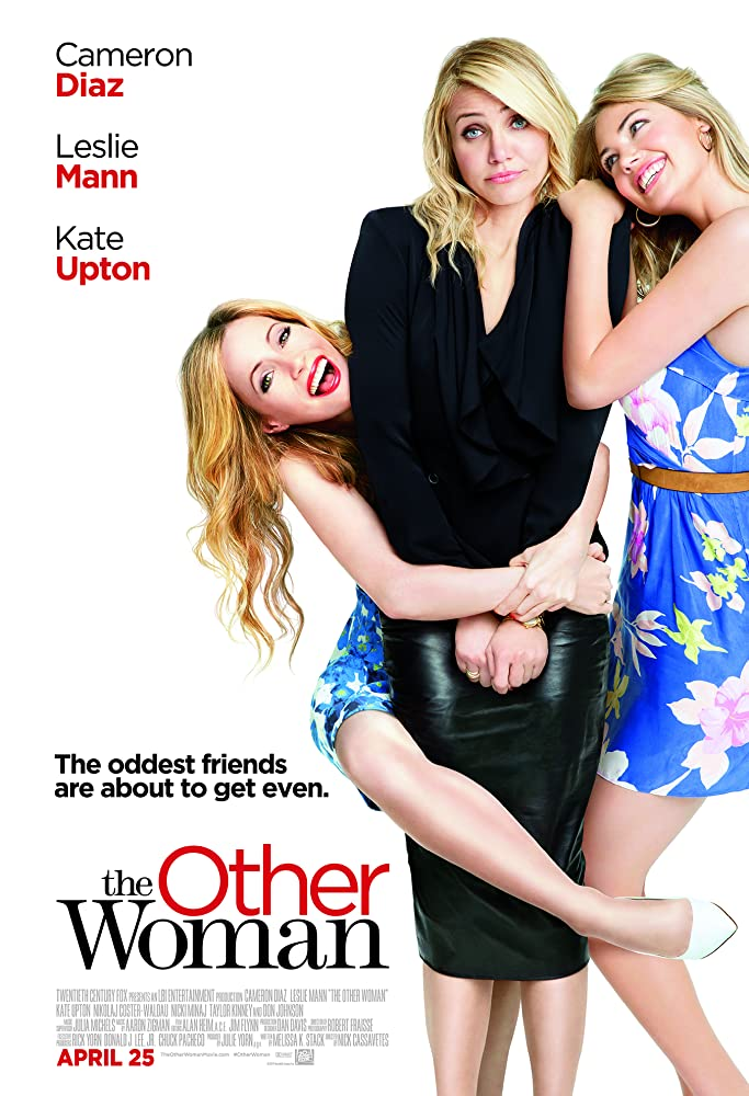 The film poster showing Carly (Cameron Diaz) standing stiffly as Kate (Leslie Mann) and Amber (Kate Upton) cling to her.