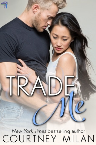 The book cover showing a white, blond man embracing an Asian woman.