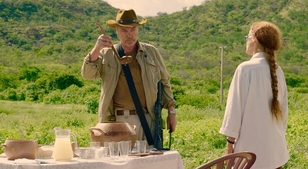 Michael (Udo Kier) tasting Dominga's (Sonia Braga) stew.