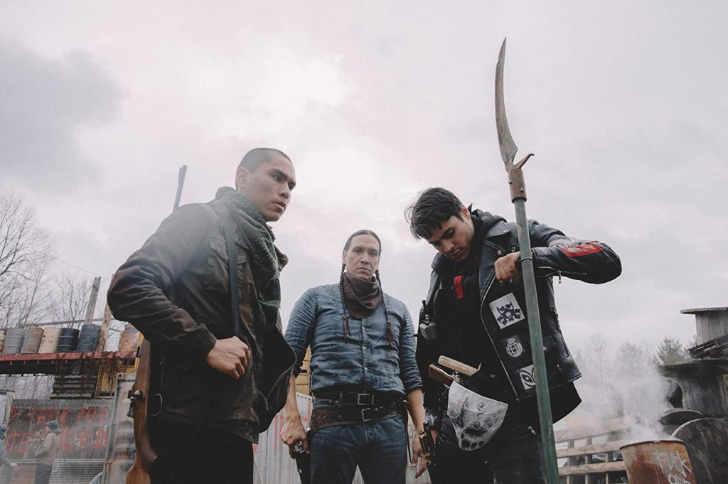 Joseph (Forrest Goodluck), Traylor (Michael Greyeyes) and Lysol (Kiowa Gordon) prepared to fight.