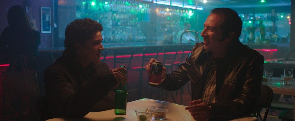Miguel (Benny Emmanuel) out drinking with his co-worker José (Enrique Arreola).