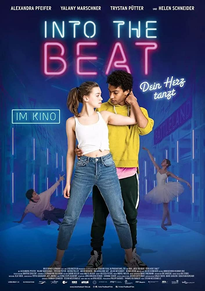 The film poster showing Katya (Alexandra Pfeifer) and Marlon (Yalany Marschner) dancing with each other.