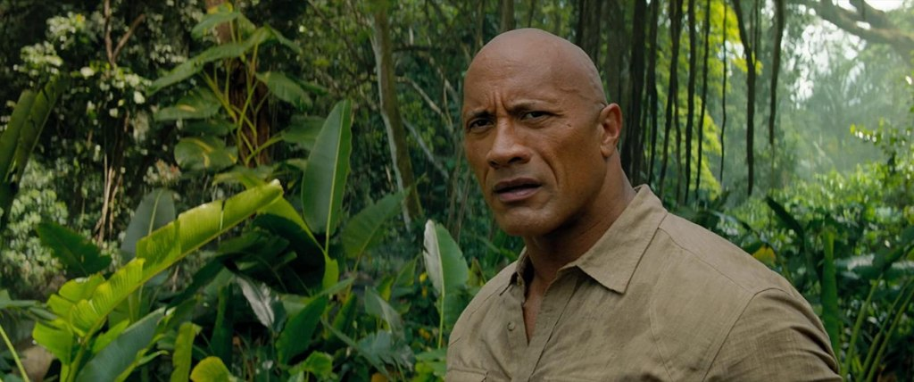 Bravestone (Dwayne Johnson) in the jungle.