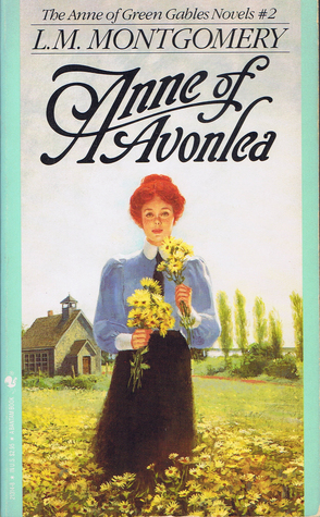 The book cover shwoing a red-haired young woman with a bunch of yellow flowers.