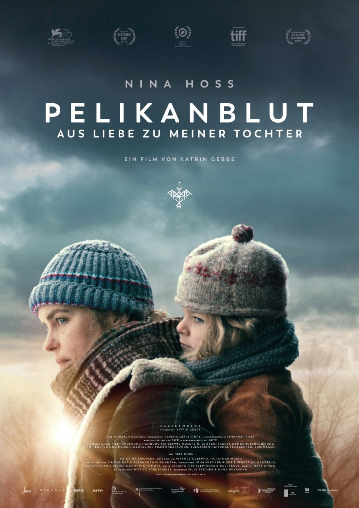 The film poster showing Wiebke (Nina Hoss) carrying Raya (Katerina Lipovska) as if she was a baby.