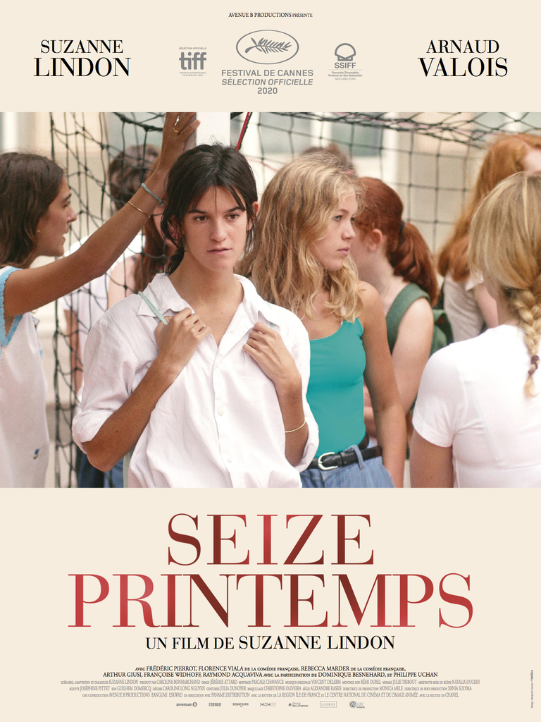 The film poster showing Suzanne (Suzanne Lindon) standing in a group of girls her age, looking distant.