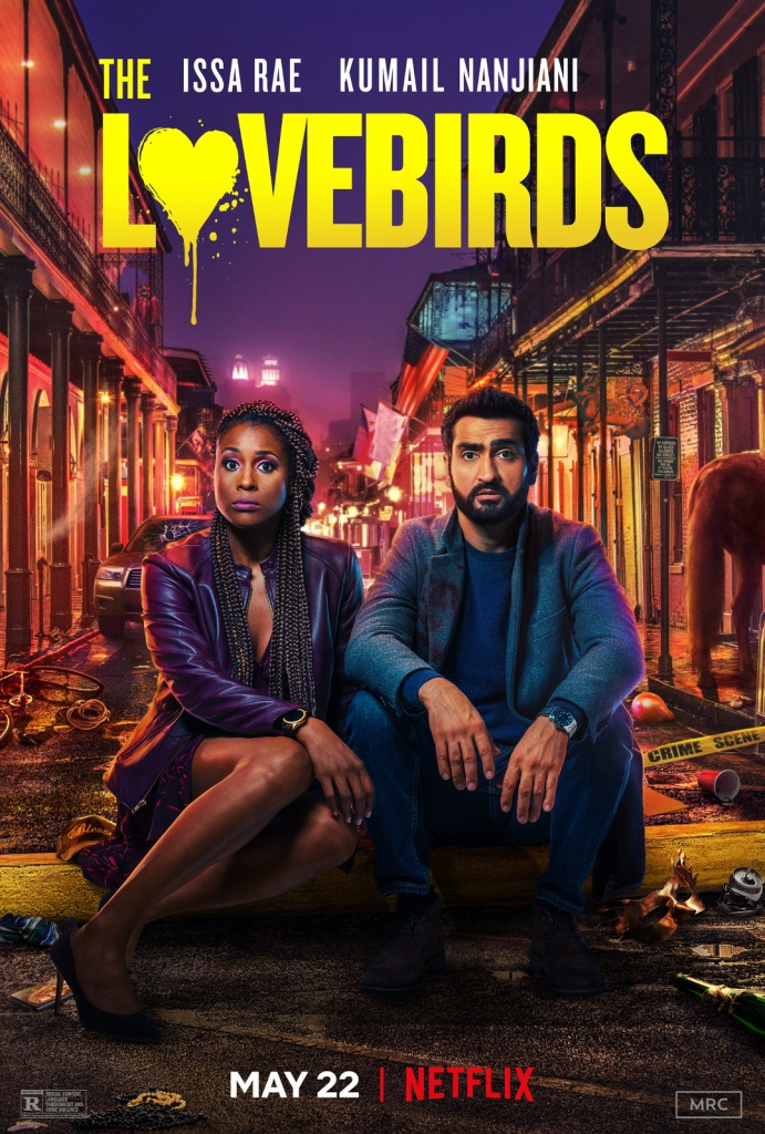 The film poster showing Leilani (Issa Rae) and Jibran (Kumail Nanjiani) sitting in a baxk alley filled with trash, looking exhausted.