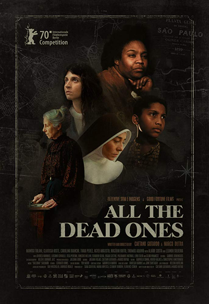 The film poster showing a collage of the main characters of the film.