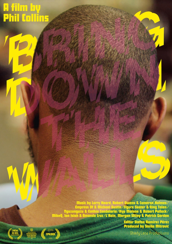 The film poster showing the back of a Black head with short hair.