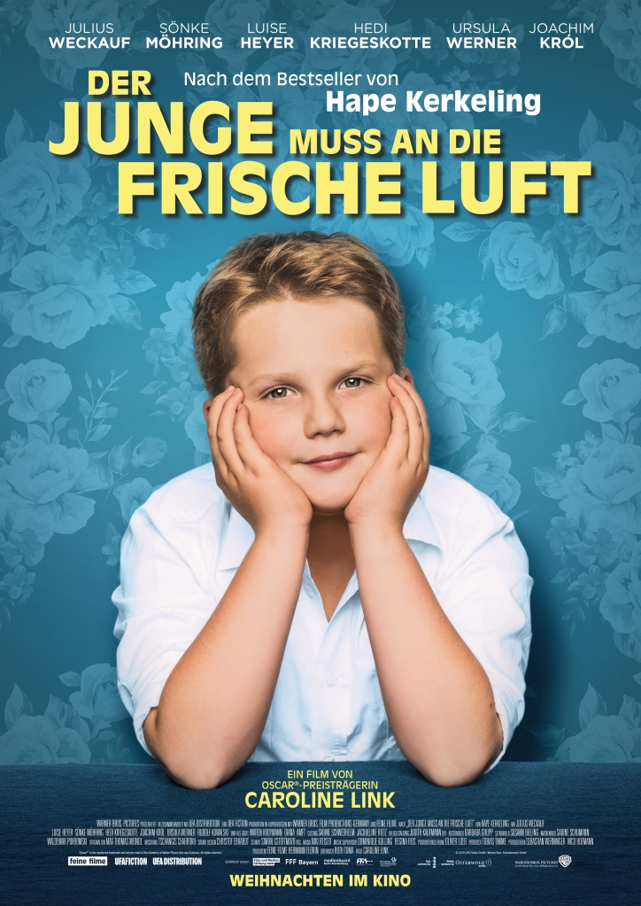 The film poster showing Hape (Julius Weckauf) in a white shirt, his head in his hands.