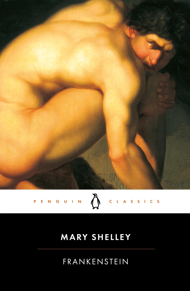 The book cover showing the painting of a naked man huddling on the floor.