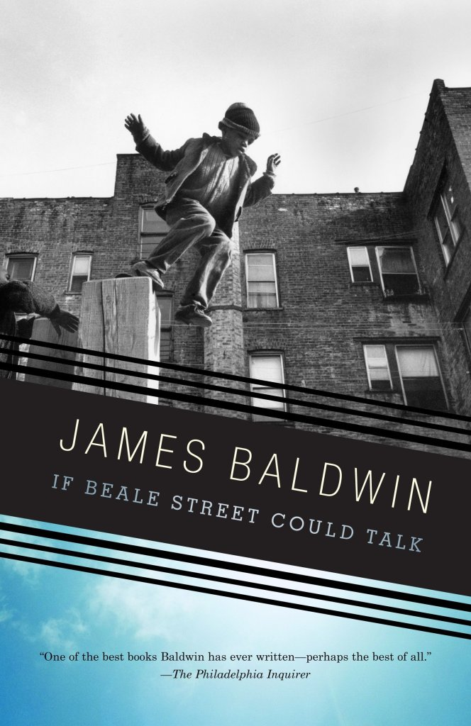 The book cover showing a black and white photo of a Black kid jumping off a wooden post.
