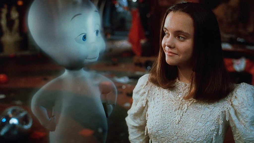 Casper and Kat (Christina Ricci) looking at each other.